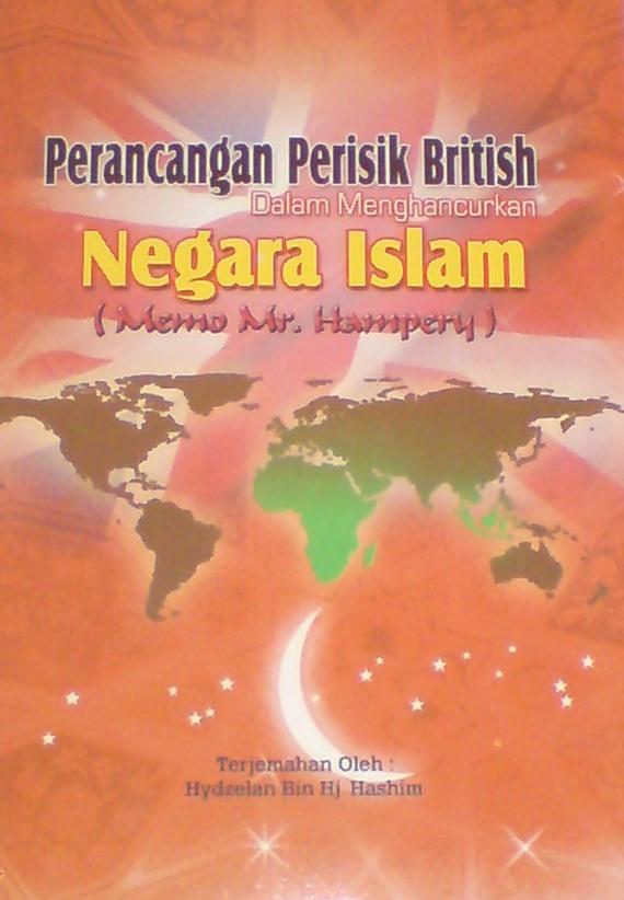Cover depan buku Perancangan Perisik British