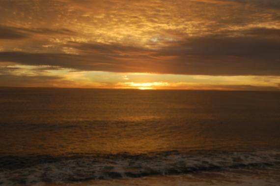 Pantai Acheh di waktu senja