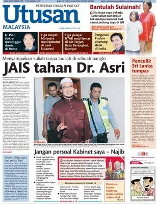 Dr.Asri ditahan